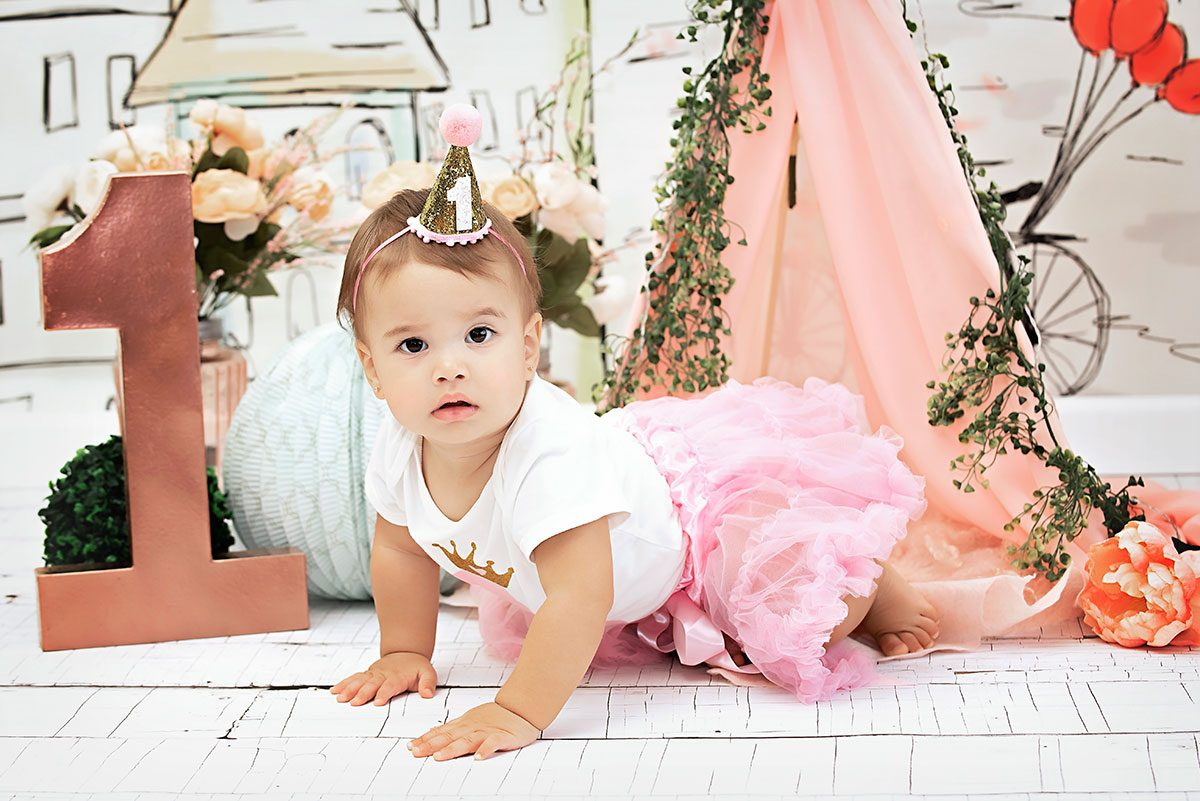 Birthday One Year Anna Elyse Greenville SC Photographer