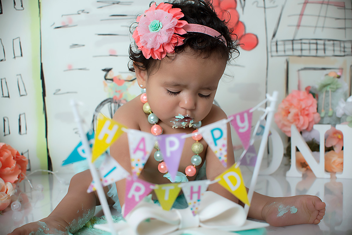 Kate Marie Cake Smash Session in Greenville SC Photography